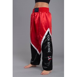 "Kikboksa bikses ""Budo's Finest kick boxing trousers, black-red white"""