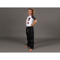 "Kikboksa bikses ""PHOENIX kick boxing trousers satin, black"""