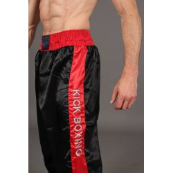 "Kikboksa bikses ""PHOENIX kick boxing trousers satin, black-red"""