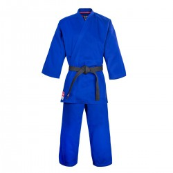 "Karate Gi ""FUJIMAE TRAINING"" Blue-Red-Black"